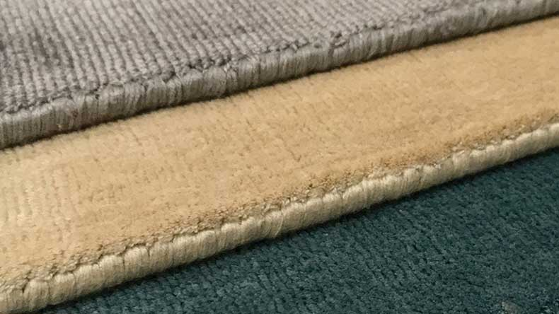 Rugs with Viscose Fiber